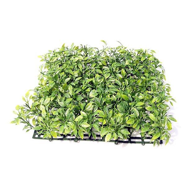 人工芝 ティーリーフマット ツートングリーン (1枚)(造花 芝生 DIY 壁面装飾 フェイクグリーン)(屋外使用可)