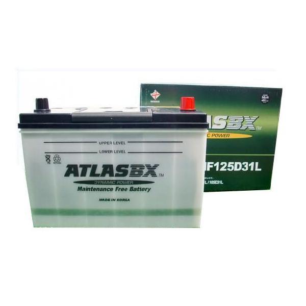 アトラス 車 バッテリー 125D31L ATLAS 自動車用バッテリ- 2年保証 送料無料 amcom 03