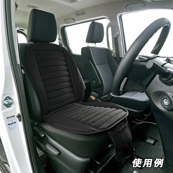 ボンフォーム 5472-07BK 車載用クールクッション 快適エアー 強力ジェット送風 ダブル ブラック DC12V・24V車兼用 48x103cm クールシート トラック シートカバー|amcom|03