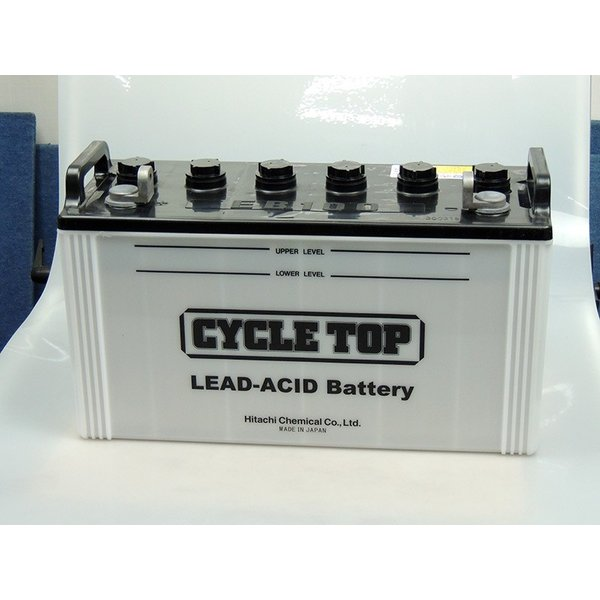 EB100 L端子 2個セット 日立化成 バッテリー ボルトナット 100Ah/5時間率容量 日本製 国産 ディープサイクル サブ キャンピング スイーパー エレベータ 発電用|amcom|02