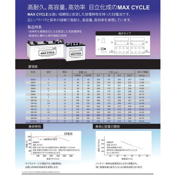 EB160-T ポール端子 MAX CYCLE ディープサイクル バッテリー 蓄電池 純正 送料無料 (一部地域送料加算)|amcom|03