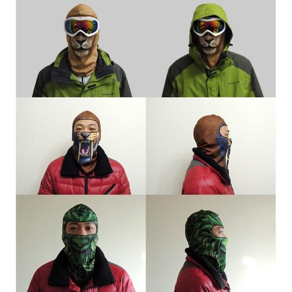 アニマルスキーマスク フェイスマスク ハロウィン サバゲー 花粉対策 目だし帽 UVカットマスク バラクラバ フェイスカバー 吸汗速乾 スノーボード|amcom|04