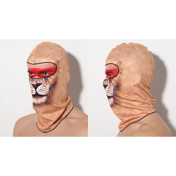 アニマルスキーマスク フェイスマスク ハロウィン サバゲー 花粉対策 目だし帽 UVカットマスク バラクラバ フェイスカバー 吸汗速乾 スノーボード|amcom|05