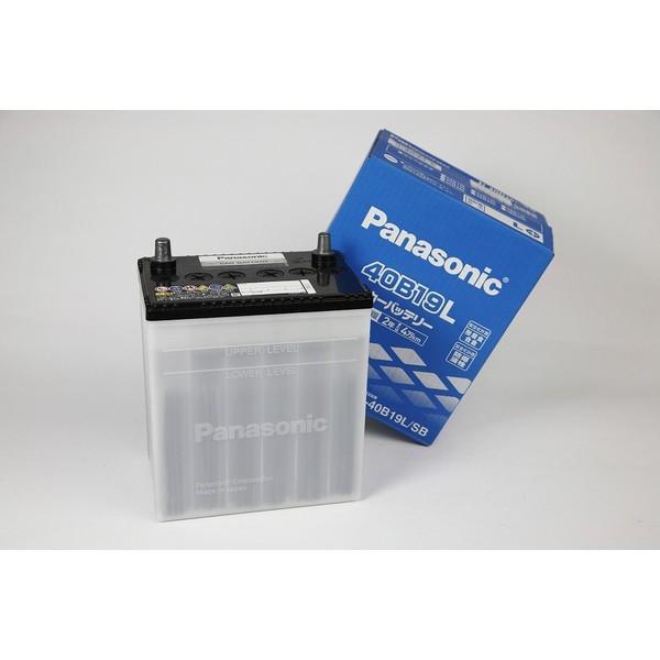 あすつく対応 送料無料 40B19L パナソニック SB バッテリー 自動車用 Panasonic 40B19L/SB 車 2年保証 軽自動車や小型車用 車バッテリー amcom 02