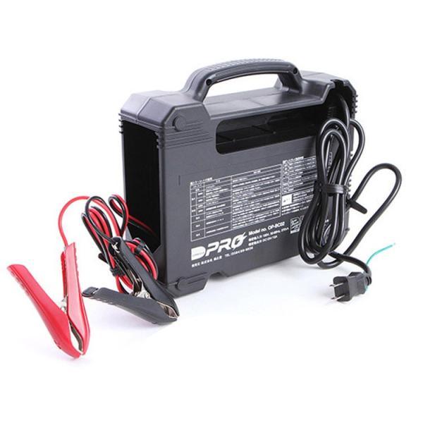 オメガプロ OP-BC02 バッテリー充電器 DC12V 専用 マイコン制御 全自動パルス充電器 バッテリーチャージャー アイドリングストップ車 ハイブリッド車 対応|amcom|04