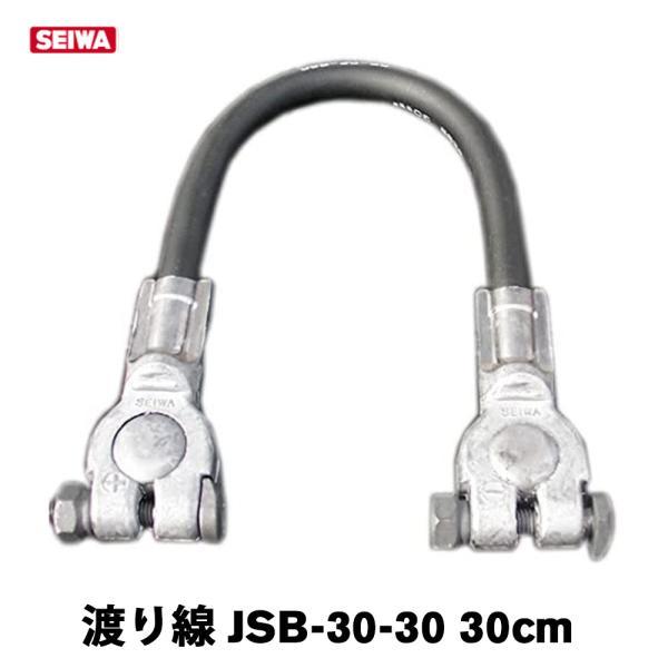 バッテリー用 ケーブル線 JSB-30-30 わたり線 接続 30cm ジョイントケーブル ジャンパー線 車両ケーブル バッテリー連結線 渡り線|amcom