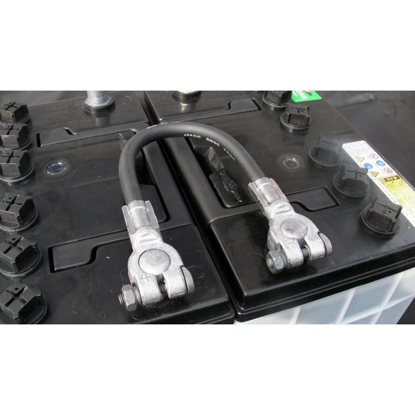 バッテリー用 ケーブル線 JSB-30-30 わたり線 接続 30cm ジョイントケーブル ジャンパー線 車両ケーブル バッテリー連結線 渡り線|amcom|03