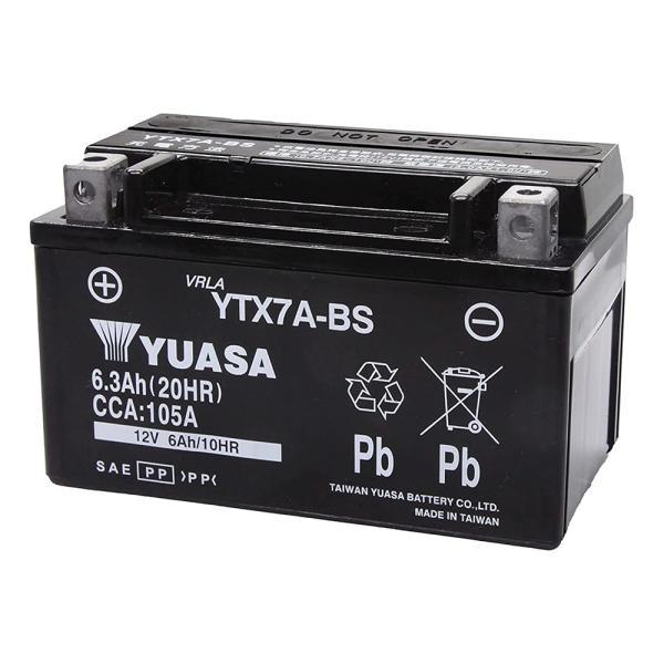 YTX7A-BS 台湾 ユアサ yuasa バイク 用 バッテリー オートバイ YTX7A-BS GS ユアサ yuasa 互換 PL保険 傾斜搭載不可 横置き不可|amcom