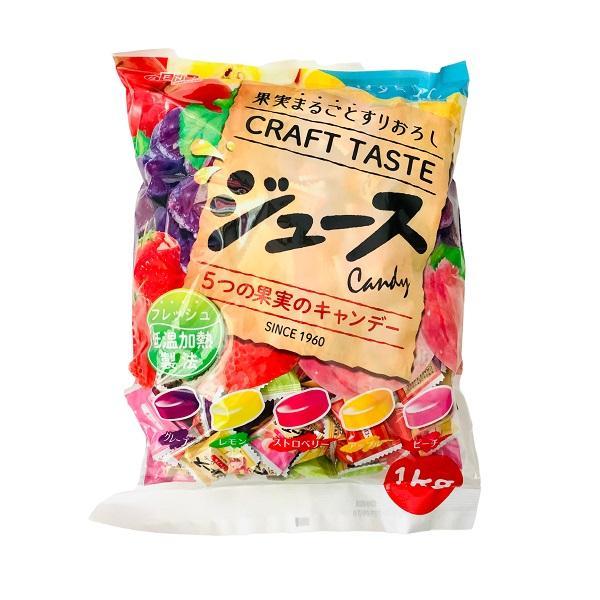 まるごと果実 ジュース フルーツキャンデー 1kg入り飴×10袋 5種類アソート ビタミンC入り 扇雀飴本舗