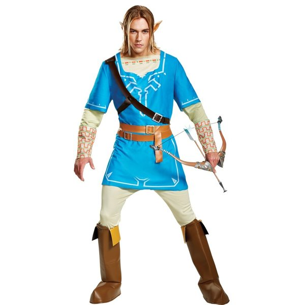 リンク 衣装、コスチューム 大人男性用 ゼルダの伝説 ブレス オブ ザ ワイルド LINK BREATH OF THE WILD DELUXE