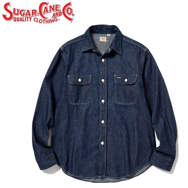 RoomClip商品情報 - シュガーケーンSUGAR CANE ブルーデニムワークシャツBLUE DENIM L/S WORK SHIRT「SC27852」