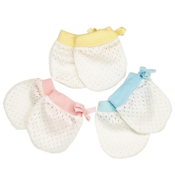 ベビーミトン かきむしり防止 ひっかき防止 手袋 3色セット かわいいおててを優しく包む ミトン 新生児 赤ちゃん用 メッシュ 0〜6ヶ月|amenity2019|06