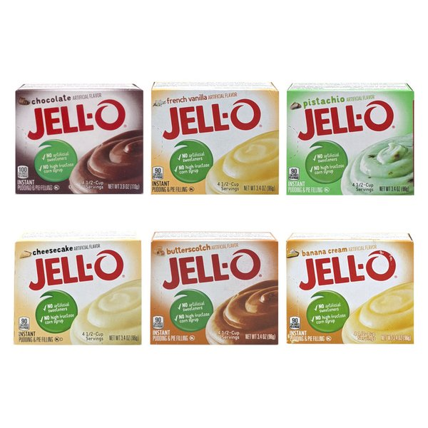 (砂糖入り)ジェロー インスタントプディング&パイフィリングミックス 6種類