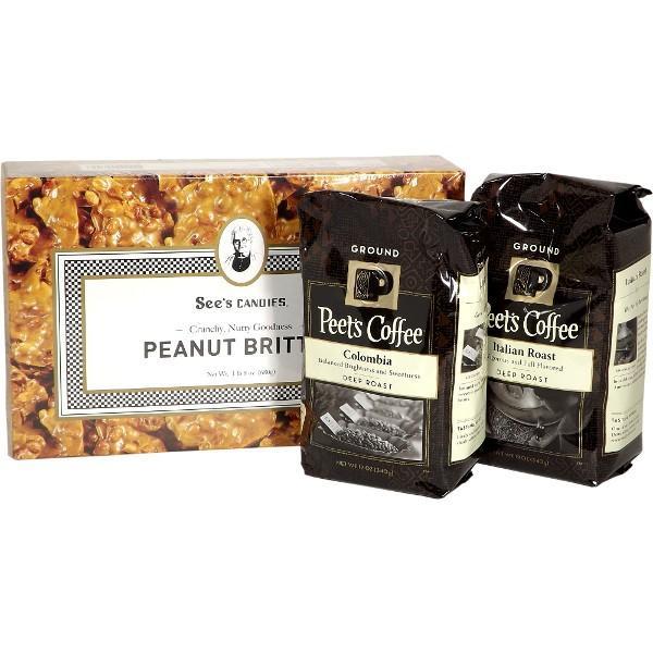 【福袋】ピーツコーヒー2個+ピーナッツブリットルギフトセット