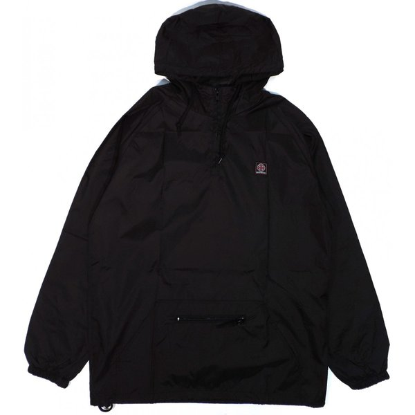 Black//Red Independent Reflective Cross Pullover Anorak Jacket