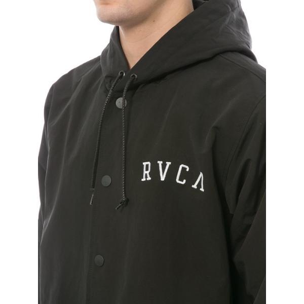 ルーカ フード コーチ ジャケット ブラック メンズ 裏ボア 黒  RVCA HOOD COACH JACKET BLACK|americanrushstore|03