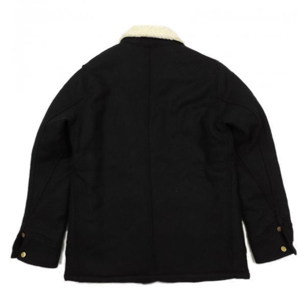 Lee × Harris Tweed / リー × ハリスツイード BOA WOOL COVERALL ボア ウール カバーオール ジャケット BLACK ブラック LS1171 送料無料|americanrushstore|02