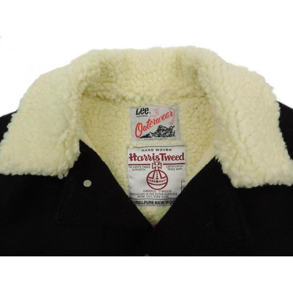 Lee × Harris Tweed / リー × ハリスツイード BOA WOOL COVERALL ボア ウール カバーオール ジャケット BLACK ブラック LS1171 送料無料|americanrushstore|04