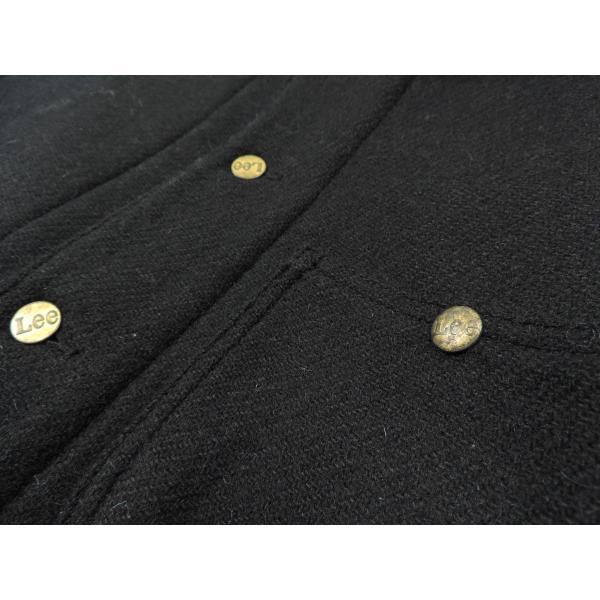 Lee × Harris Tweed / リー × ハリスツイード BOA WOOL COVERALL ボア ウール カバーオール ジャケット BLACK ブラック LS1171 送料無料|americanrushstore|06