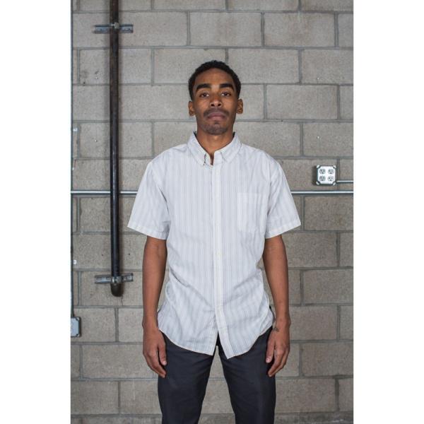 BRIXTON / ブリクストン ARTHUR S/S WOVEN SHIRT 半袖シャツ OFF WHITE|americanrushstore|02