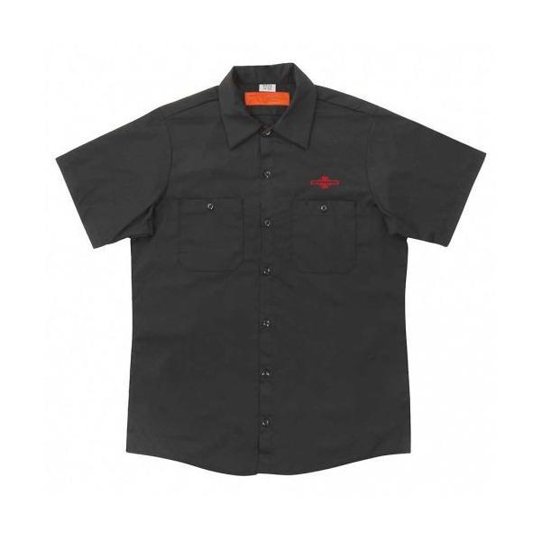 INDEPENDENT / インデペンデント DAILY GRIND WORK SHIRT 半袖 ワークシャツ BLACK ブラック americanrushstore