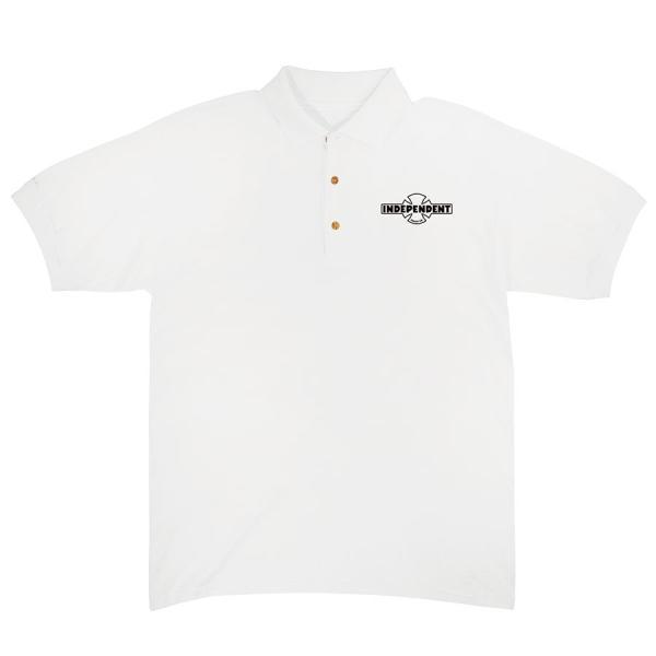インデペンデント 半袖 ポロシャツ ホワイト インディ トラック スケート INDEPENDENT OG POLO S/S SHIRT WHITE|americanrushstore