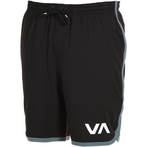 ルーカ VA スポーツ ショーツ ブラック ストレッチ スウェット イージー ショーツ ハーフパンツ サーフ スケート RVCA VA SPORT SHORT BLACK americanrushstore