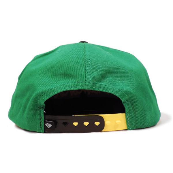 DIAMOND SUPLY CO. / ダイアモンド サプライ OG SCRIPT SNAPBACK CAP スナップバック キャップ GREEN/BLACK グリーン/ブラック|americanrushstore|03