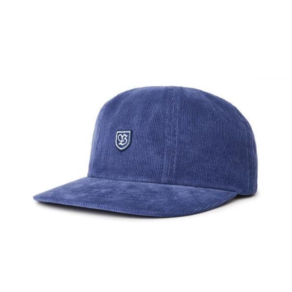 ブリクストン メンズ レディース コットン レザー バック キャップ ブルー コーデュロイ 帽子 BRIXTON B-SHIELD III CAP PATRIOT BLUE|americanrushstore