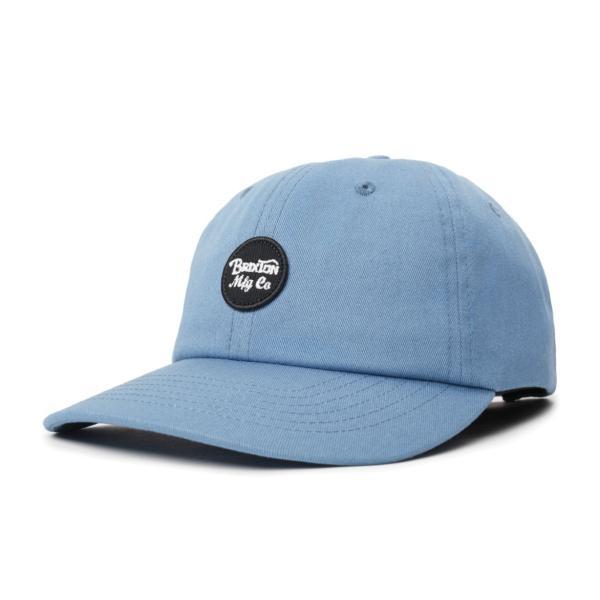 ブリクストン メンズ レディース コットン ストラップ バック キャップ オリオン ブルー 帽子 ダッド ロー キャップ  BRIXTON WHEELER CAP ORION BLUE|americanrushstore