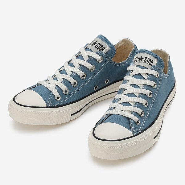 コンバース メンズ シューズ スニーカー 靴 オールスター ウォッシュド キャンバス ローカット ブルー CONVERSE ALL STAR WASHED CANVAS OX BLUE|americanrushstore|02