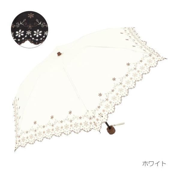 折りたたみ傘 レディース 晴雨兼用  日傘 uv 遮光 人気 おしゃれ かわいい 梅雨 雨用傘 折傘 雨傘 日傘 フラワー刺繍|ami-an|03