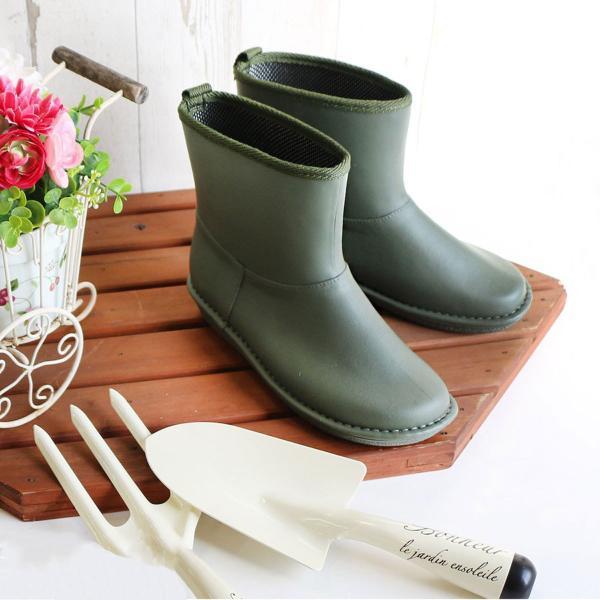 レインブーツショート日本製高品質ラバーブーツ長靴ガーデンシューズレインシューズラバーシューズラバーブーツ