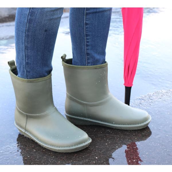 レインブーツ  ショート 日本製  高品質ラバーブーツ 長靴 ガーデンシューズ レインシューズ ラバーシューズ ラバーブーツ|amiami345|14