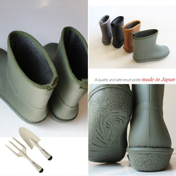 レインブーツ  ショート 日本製  高品質ラバーブーツ 長靴 ガーデンシューズ レインシューズ ラバーシューズ ラバーブーツ|amiami345|16
