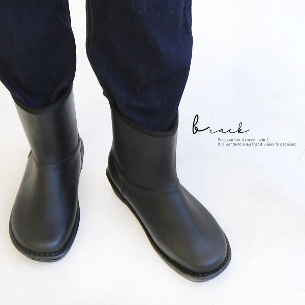 レインブーツ  ショート 日本製  高品質ラバーブーツ 長靴 ガーデンシューズ レインシューズ ラバーシューズ ラバーブーツ|amiami345|19