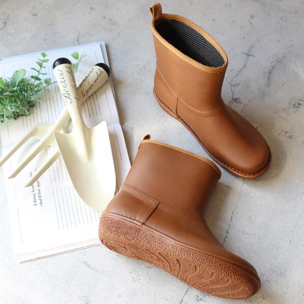 レインブーツ  ショート 日本製  高品質ラバーブーツ 長靴 ガーデンシューズ レインシューズ ラバーシューズ ラバーブーツ|amiami345|04