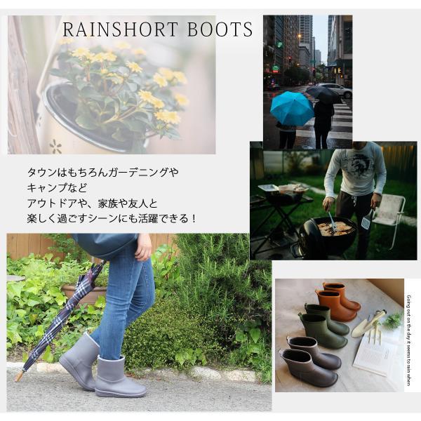 レインブーツ  ショート 日本製  高品質ラバーブーツ 長靴 ガーデンシューズ レインシューズ ラバーシューズ ラバーブーツ|amiami345|05