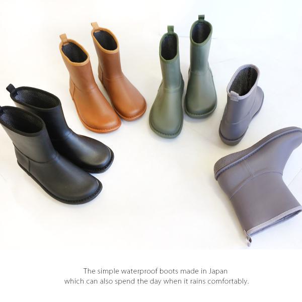 レインブーツ  ショート 日本製  高品質ラバーブーツ 長靴 ガーデンシューズ レインシューズ ラバーシューズ ラバーブーツ|amiami345|08