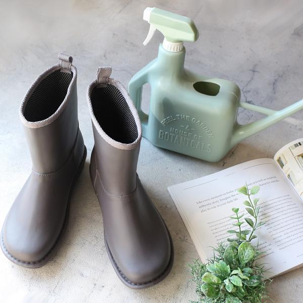 レインブーツ  ショート 日本製  高品質ラバーブーツ 長靴 ガーデンシューズ レインシューズ ラバーシューズ ラバーブーツ|amiami345|09