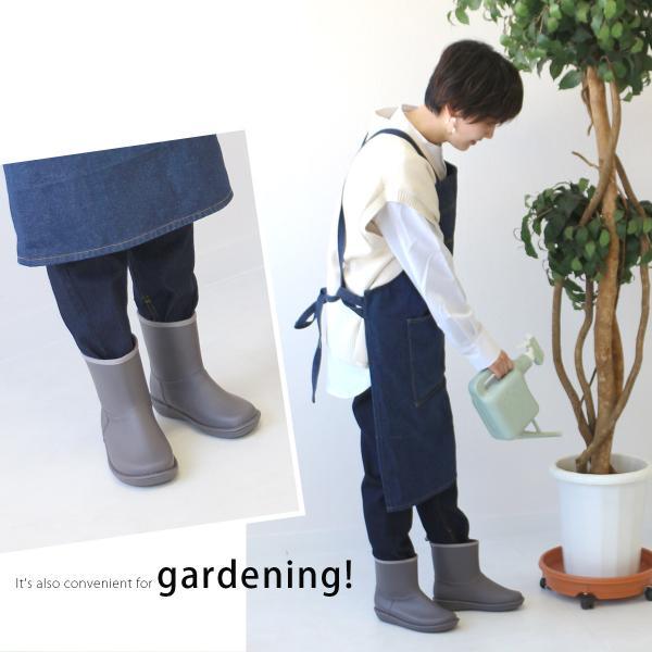 レインブーツ  ショート 日本製  高品質ラバーブーツ 長靴 ガーデンシューズ レインシューズ ラバーシューズ ラバーブーツ|amiami345|10