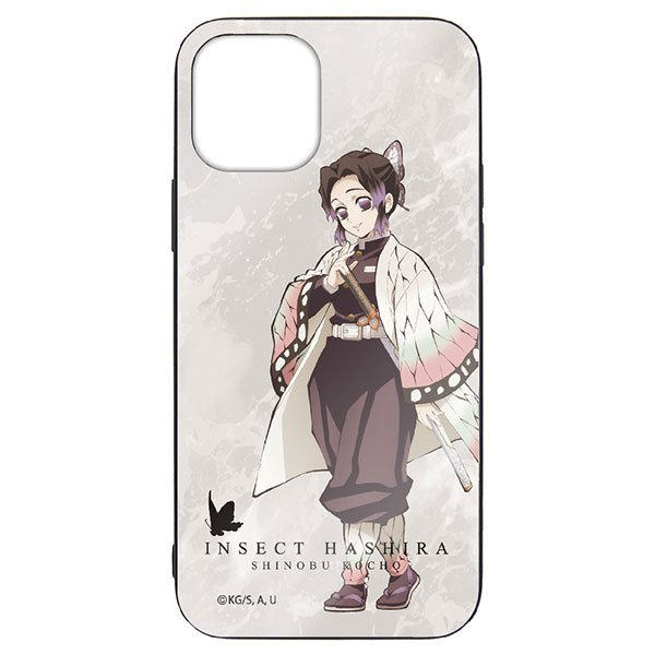 鬼滅の刃胡蝶しのぶ強化ガラスiPhoneケース/12・12Pro共用 コスパ 《05月 》
