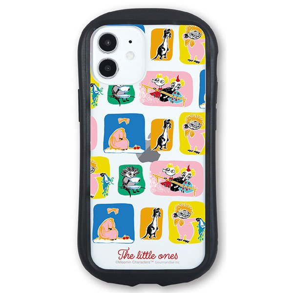 ムーミン[The little ones] iPhone 12mini対応 ハイブリッドクリアケース 総柄A[グルマンディーズ]《10月予約》