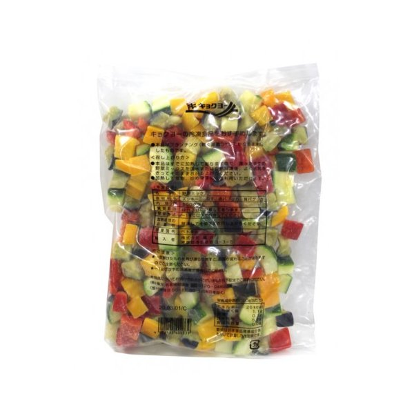 極洋 4種の野菜ミックスV(ダイスカット) 500g