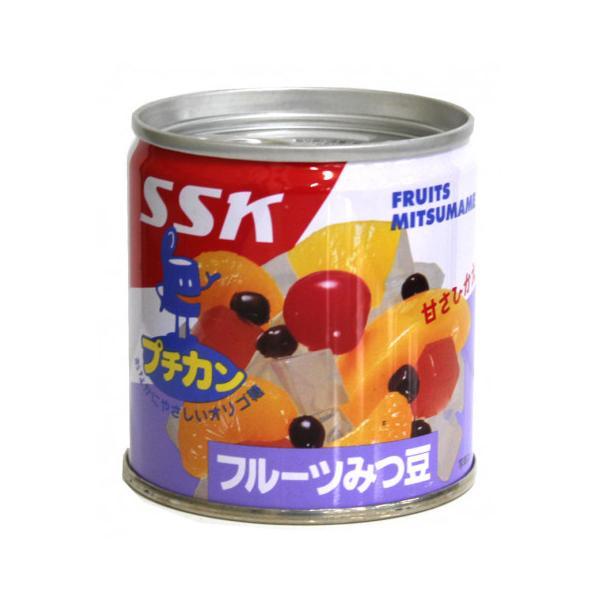清水食品 甘さひかえめ・フルーツみつ豆(プチカン) 195g