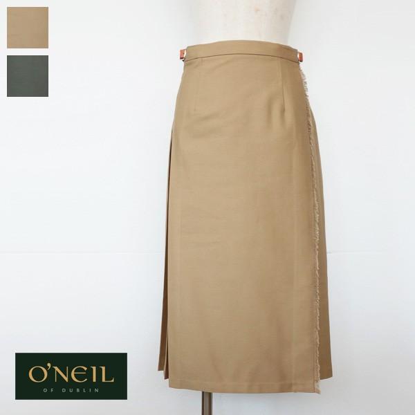 O'NEIL OF DUBLIN オニールオブダブリン コットン チノ ラップスカート REGULAR KILT 10273|amico-di-ineya