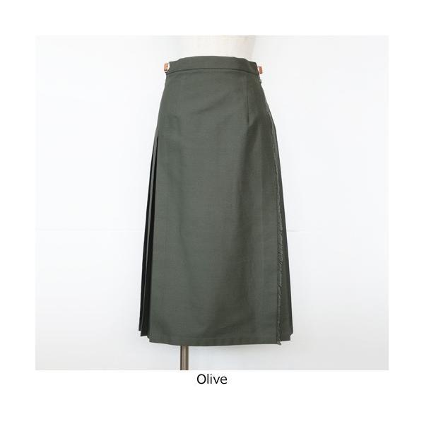 O'NEIL OF DUBLIN オニールオブダブリン コットン チノ ラップスカート REGULAR KILT 10273|amico-di-ineya|08