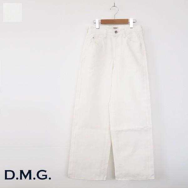 D.M.G セミワイド パンツ ホワイト コットン ドミンゴ 14-020B|amico-di-ineya