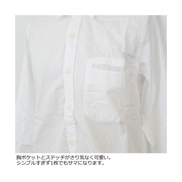 D.M.G シャツ 7分袖 コットン ドミンゴ 16-323E|amico-di-ineya|03