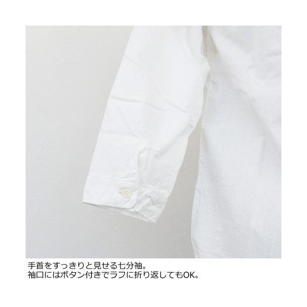 D.M.G シャツ 7分袖 コットン ドミンゴ 16-323E|amico-di-ineya|04